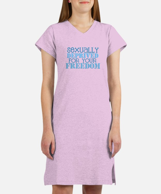 Sexually Deprived - blue Women's Nightshirt