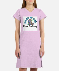 Less work more quilting Women's Nightshirt