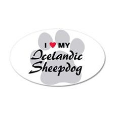Love My Icelandic Sheepdog 22x14 Oval Wall Peel