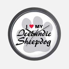 Love My Icelandic Sheepdog Wall Clock