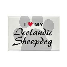 Love My Icelandic Sheepdog Rectangle Magnet
