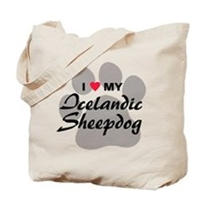 Love My Icelandic Sheepdog Tote Bag