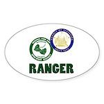 Riverside County Ranger Sticker (Oval 50 pk)