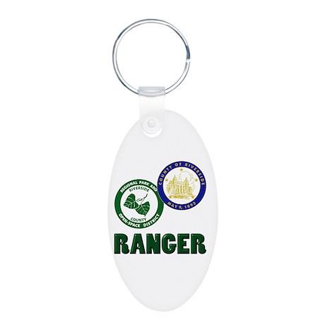 Riverside County Ranger Aluminum Oval Keychain
