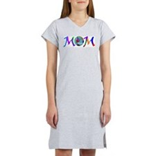 PEACE ON EARTH MOM Women's Pink Nightshirt