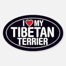 I Love My Tibetan Terrier Oval Sticker/Decal