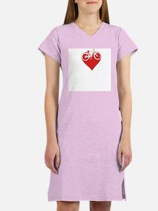 I heart bikes Women's Pink Nightshirt