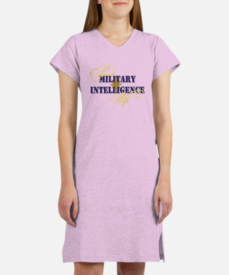 Proud Military Intelligence W Women's Nightshirt
