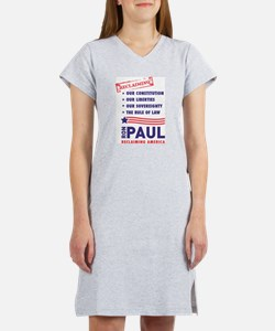 Ron Paul Reclaiming America Women's Nightshirt