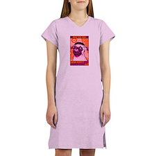 Drop Bones Not Bombs!- Pug Women's Nightshirt