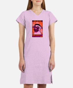 Drop Bones Not Bombs!- Pug Women's Nightshirt