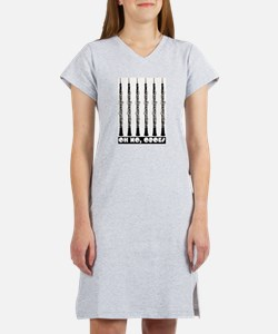Oh No, Oboes Women's Nightshirt