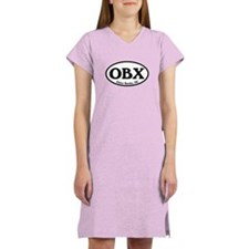 OBX Outer Banks, NC Oval Women's Nightshirt
