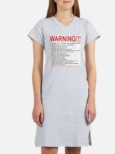 Chronic Condition Warning Women's Pink Nightshirt