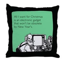 Obsolete Electronic Gadget Throw Pillow