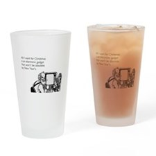 Obsolete Electronic Gadget Drinking Glass
