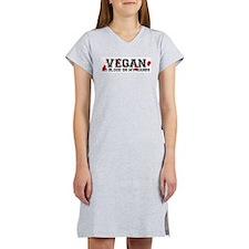 Vegan No Blood Women's Pink Nightshirt
