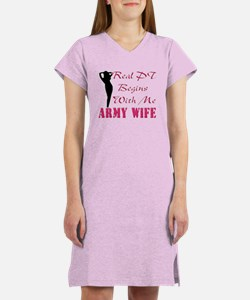 Cute Soldiers wife Women's Nightshirt