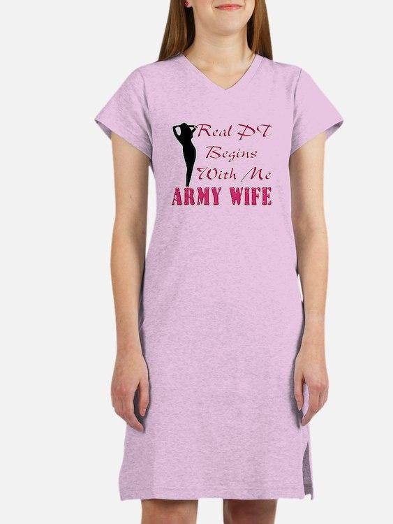 Cute Soldiers wife Women's Nightshirt