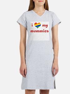 I Love My Mommies Women's Pink Nightshirt