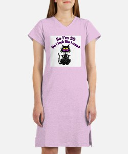Unique Black kitties Women's Nightshirt