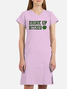Drink Up Bitches Distressed Women's Nightshirt