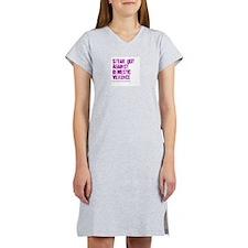 Purple Speak Out! Women's Pink Nightshirt