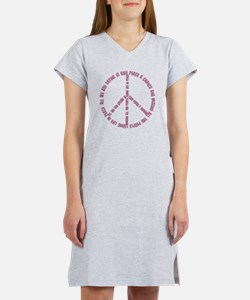 Imagine Give Peace a Chance Women's Nightshirt