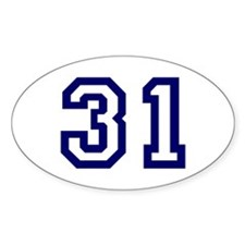 Number 31 Oval Decal