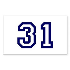 Number 31 Rectangle Decal