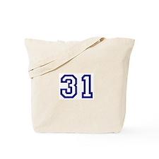 Number 31 Tote Bag