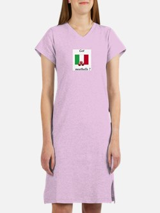 Cute Green american flag Women's Nightshirt