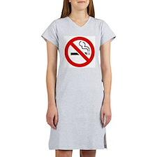 International No Smoking Sign Women's Pink Nightsh