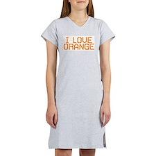 I LOVE ORANGE Women's Nightshirt