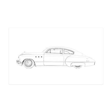 Buick Dynaflow 1949 38.5 x 24.5 Wall Peel