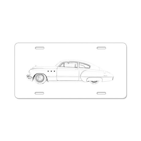 Buick Dynaflow 1949 Aluminum License Plate