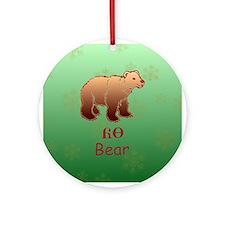 Cherokee Bear Christmas Ornament (Round)