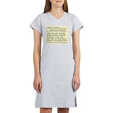 Lost Found Student Nurse Women's Nightshirt
