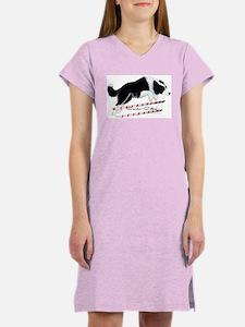 Border Collie Jump Women's Nightshirt