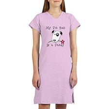 Pansy Pit Bull Women's Nightshirt