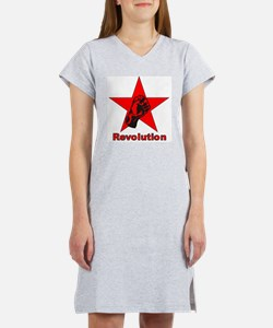 Commie Revolution Star Fist Women's Nightshirt