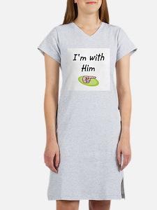 I'm with him Women's Nightshirt