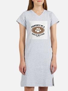 MaltiPoo dog Women's Pink Nightshirt