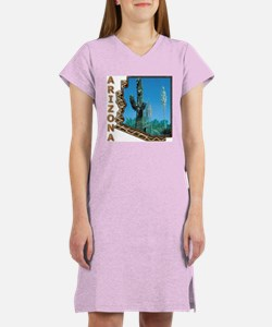 Arizona Saguaro Cactus Women's Nightshirt