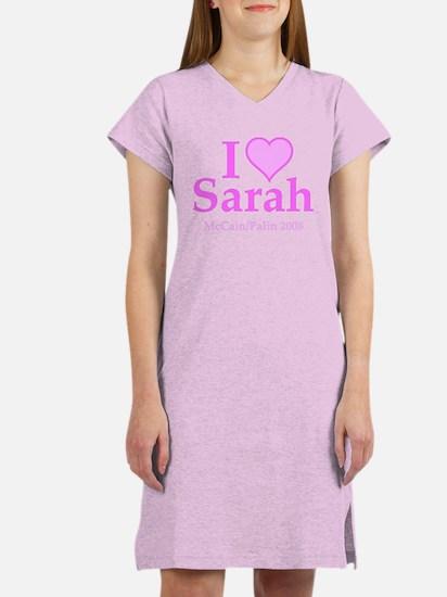I Heart Sarah Pink Women's Nightshirt