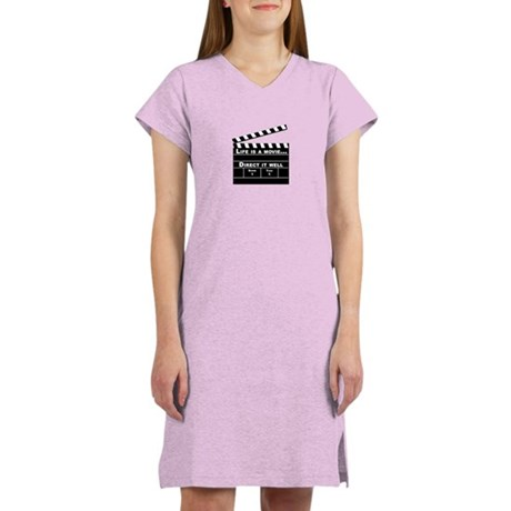 Life is a movie - Women's Pink Nightshirt