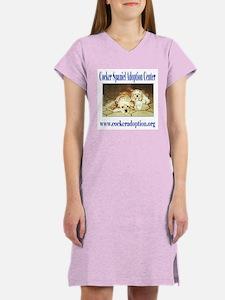 Cocker Spaniel Adoption Center Women's Nightshirt