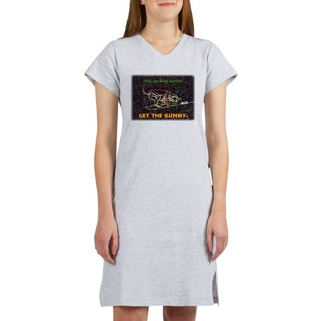 Lure course/bunny Women's Pink Nightshirt