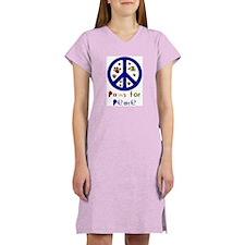Koy's Logo + Paws 4 Peace Women's Pink Nightshirt