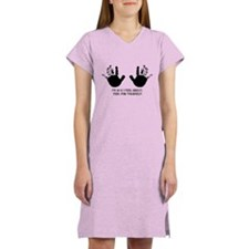 funny 50th birthday hands Women's Nightshirt